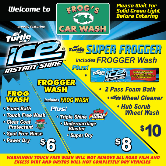Frogs express car wash our car wash services solutioingenieria Choice Image